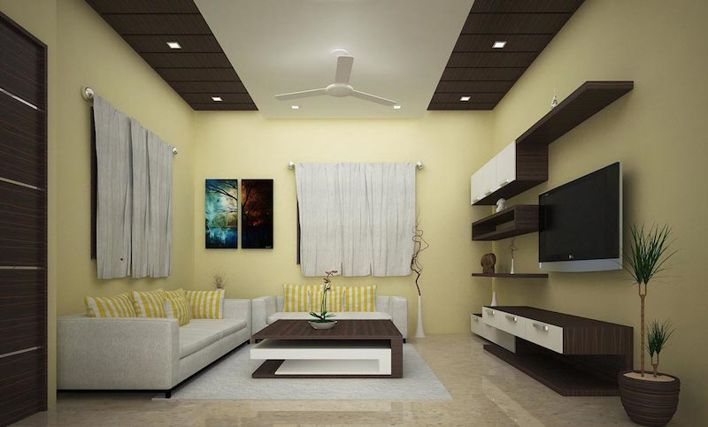 Creative decors interior designer company chennai for Interior design for living room chennai